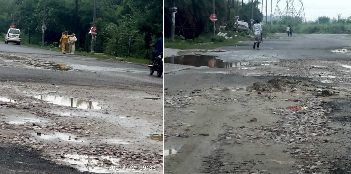Miffed residents raise issue of bad road near Paras Seasons