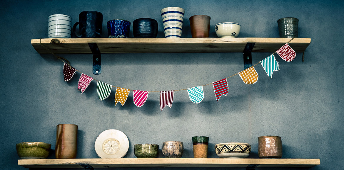Beautify your home shelves creatively