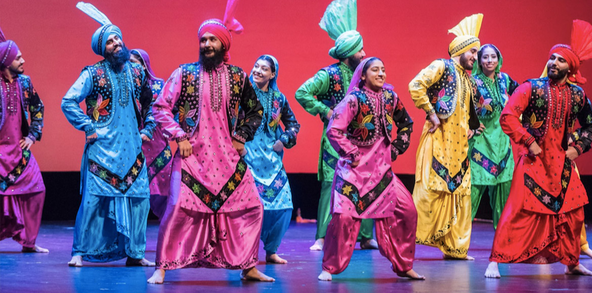 Evolution of the energetic dance form 'Bhangra'