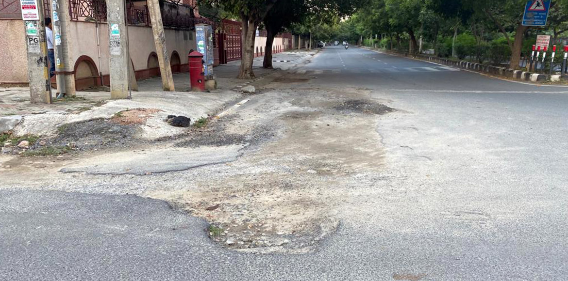 Dwarka: Potholes, open drains and damaged roads have become regular affairs