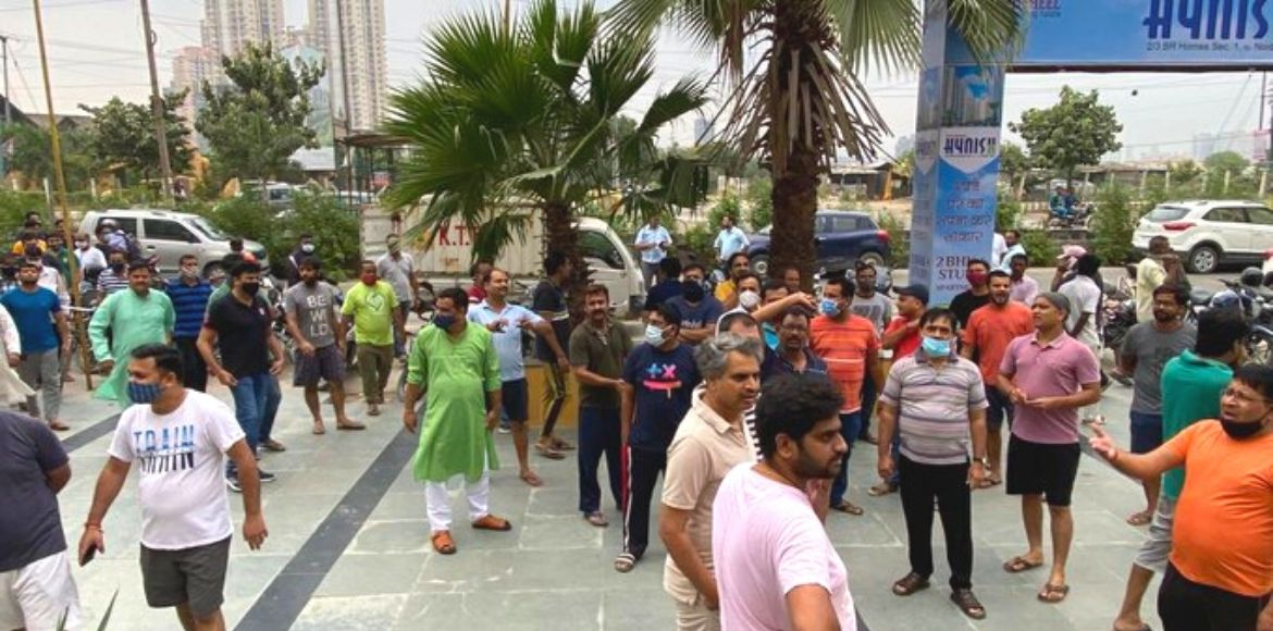 Panchsheel Hynish: Residents protest to raise maintenance issues