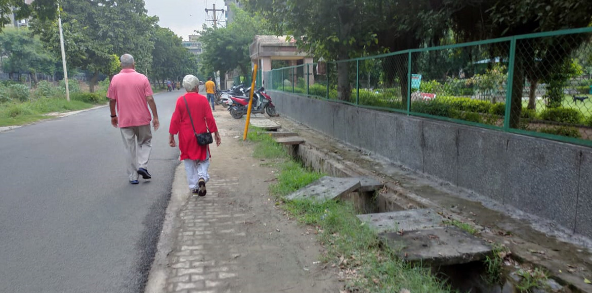 Dwarka: Pedestrian rights go for toss with open drain in Sector 3