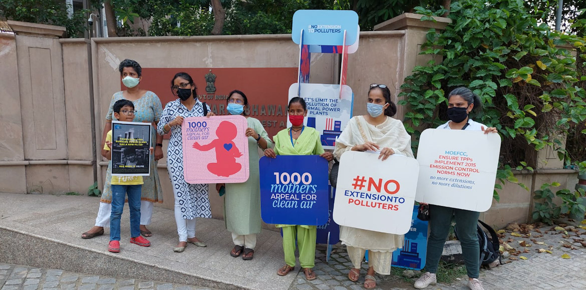 About 1,000 mothers appeal for clean air