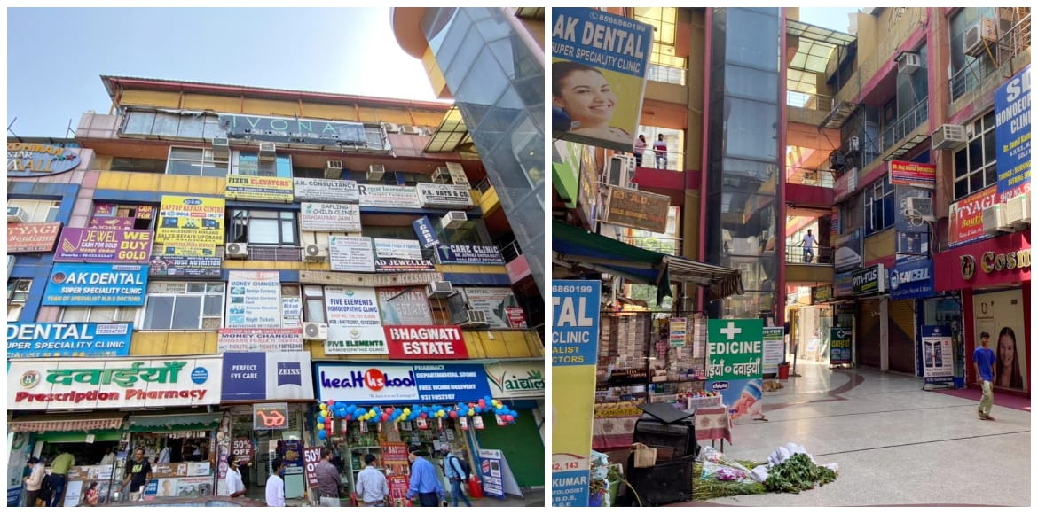 A one-stop shopping market at Dwarka's Ramphal Cho