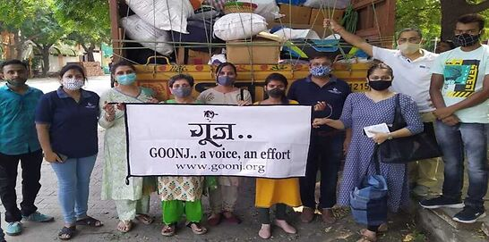 Goonj NGO organises collection camp for citizens under the pandemic