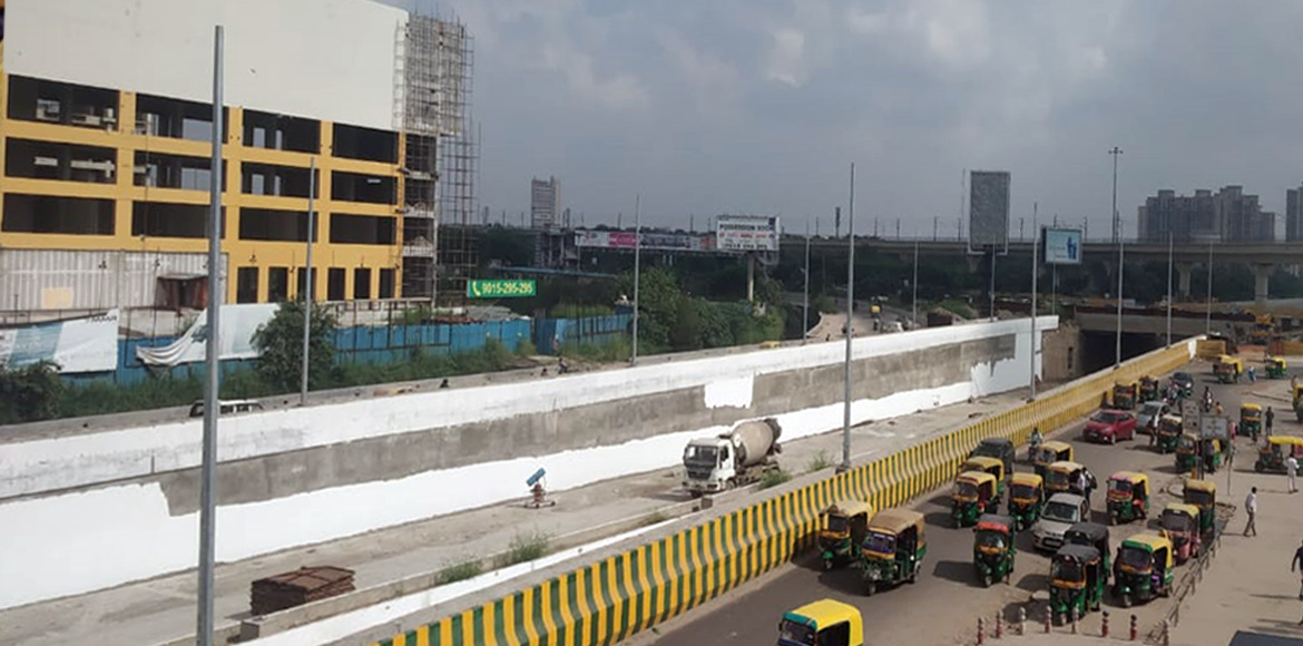Noida: Residents await opening of the Sector 71 underpass