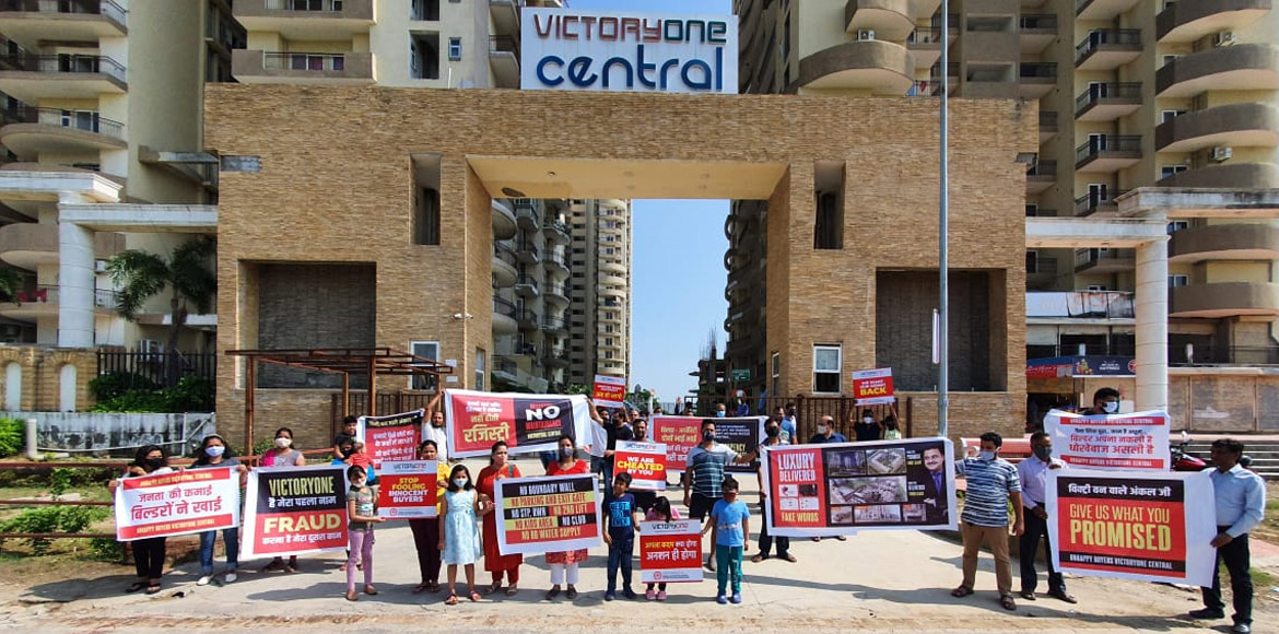 Victory One Central: Residents continue to protest for basic amenities