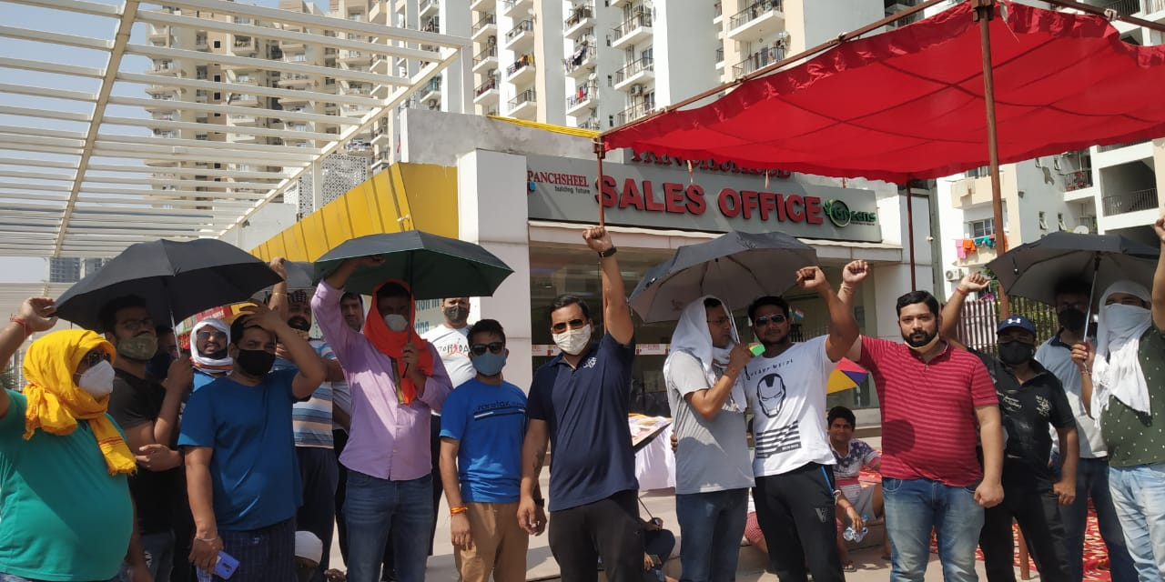 Panchsheel Greens Pinnacle: Protest over pending registry continues